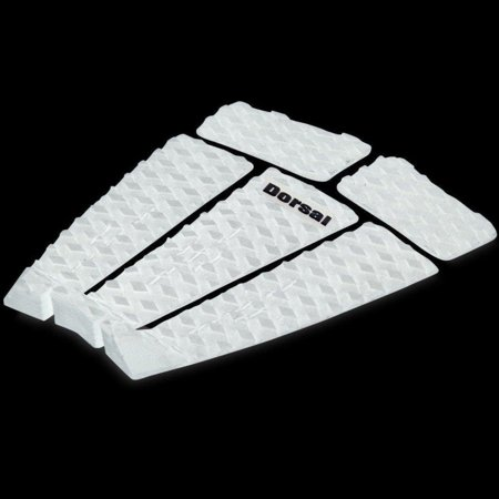 Dorsal Origin Traction Pad - 5 Piece Stomp Grip Track Pad Surfing Skimboarding with 3M Adhesive Fits All Surfboards Shortboards Longboards Skim Boards White (DaKine