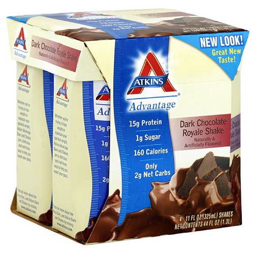 Atkins Advantage Dark Chocolate Shakes, 11 Fl oz, 6 Ct