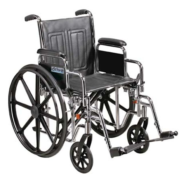 Sentra EC Heavy Duty Wheelchair with Various Arm Styles and Front Rigging Options- Black