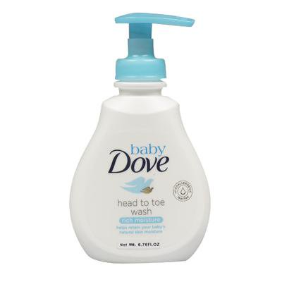 New 215124  Dove Head To Toe Rich Moisture Baby Wash (6-Pack) Cheap Wholesale Discount Bulk Baby Hand And Bar Soaps
