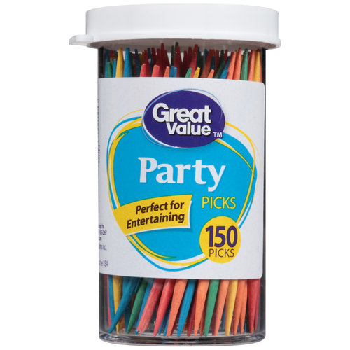 Great Value Party Picks Toothpicks, 150 count