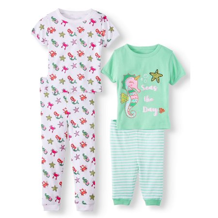 Freestyle Revolution Mix n match tight fit pajamas, 4pc set (baby girls & toddler - Girls Pajama Sale