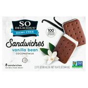 So Delicious Dairy Free Vanilla Bean Non-Dairy Frozen Dessert Sandwiches, 2.3 fl oz, 8 count