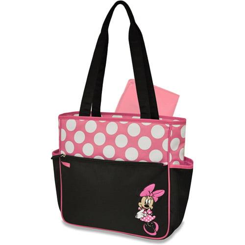 Disney Minnie Mouse Diaper Tote, Pink/Black