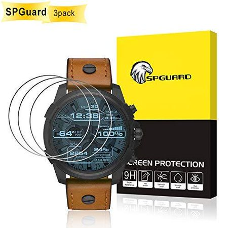 [3 Pack] SPGuard Compatible Diesel On Full Guard 2.5 Touchscreen Watch (41mm) Tempered Glass Screen Protector, for Diesel On Full Guard 2.5 Touchscreen/Fossil Gen 4 Q EXPLORIST