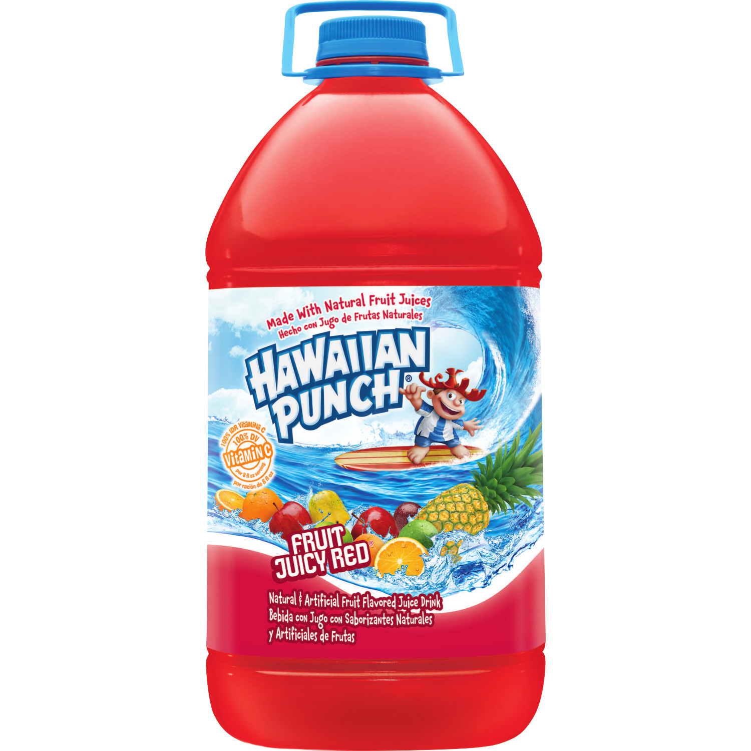 Hawaiian Punch Fruit Juicy Red, Fruit Punch Juice Drink, 1 gal bottle