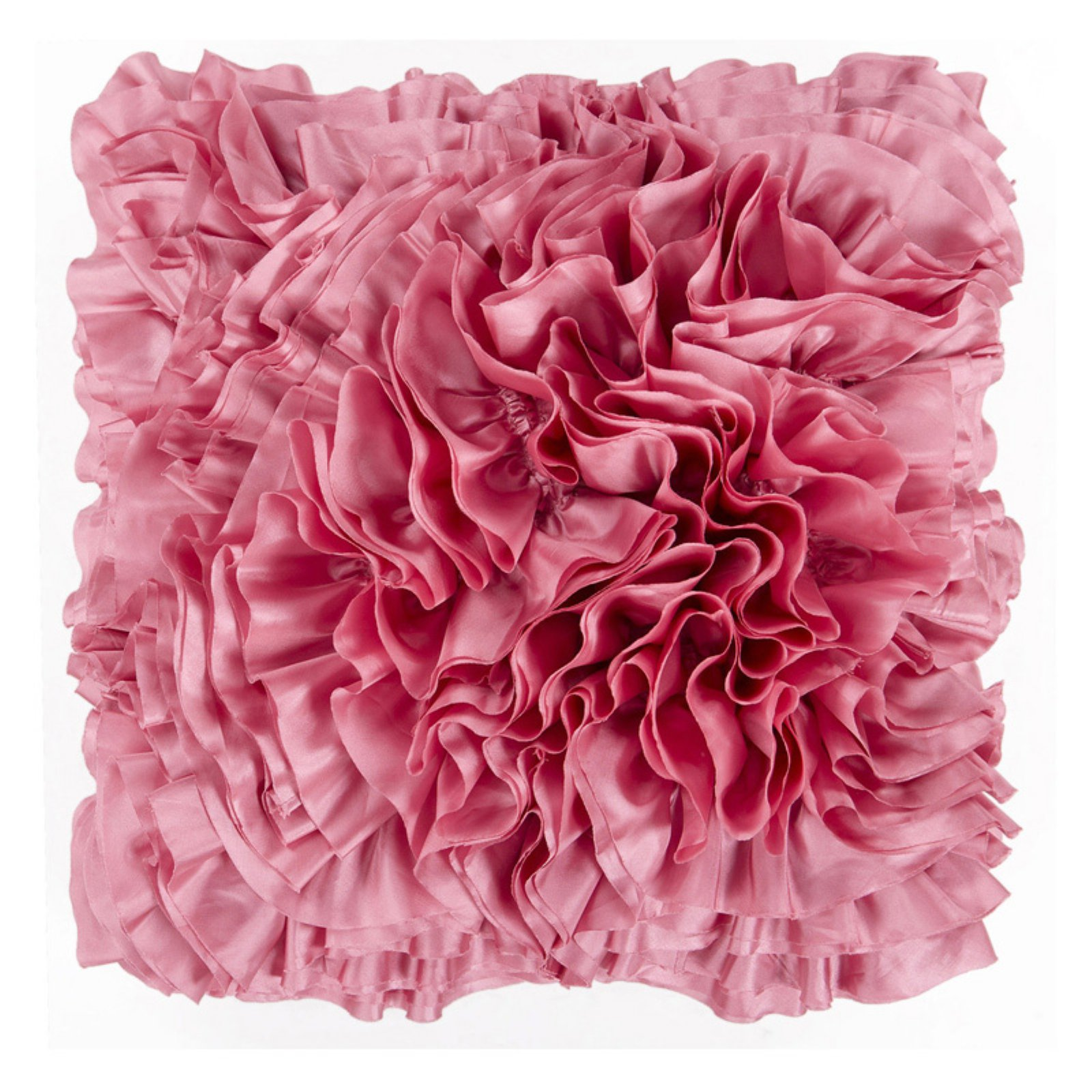 Surya Ruffles Decorative Pillow - Dusty Pink
