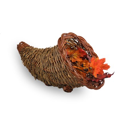 Harvest Vine Fern Cornucopia -Small 4in - Cornucopia Baskets