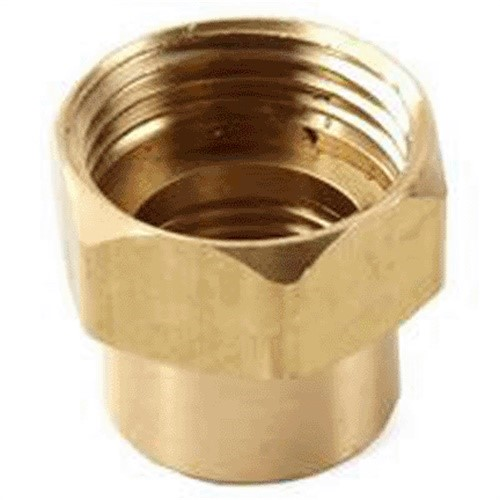 Anderson Metals 757482-1208 Pipe Fitting, Adapter, Lead-Free Brass, 3/4 FGH x 1/2-In. FIP