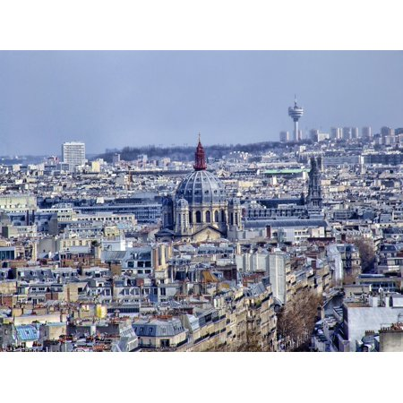 Peel-n-Stick Poster of Paris Church Buildings Skyline Cityscape Poster 24x16 Adhesive Sticker Poster Print