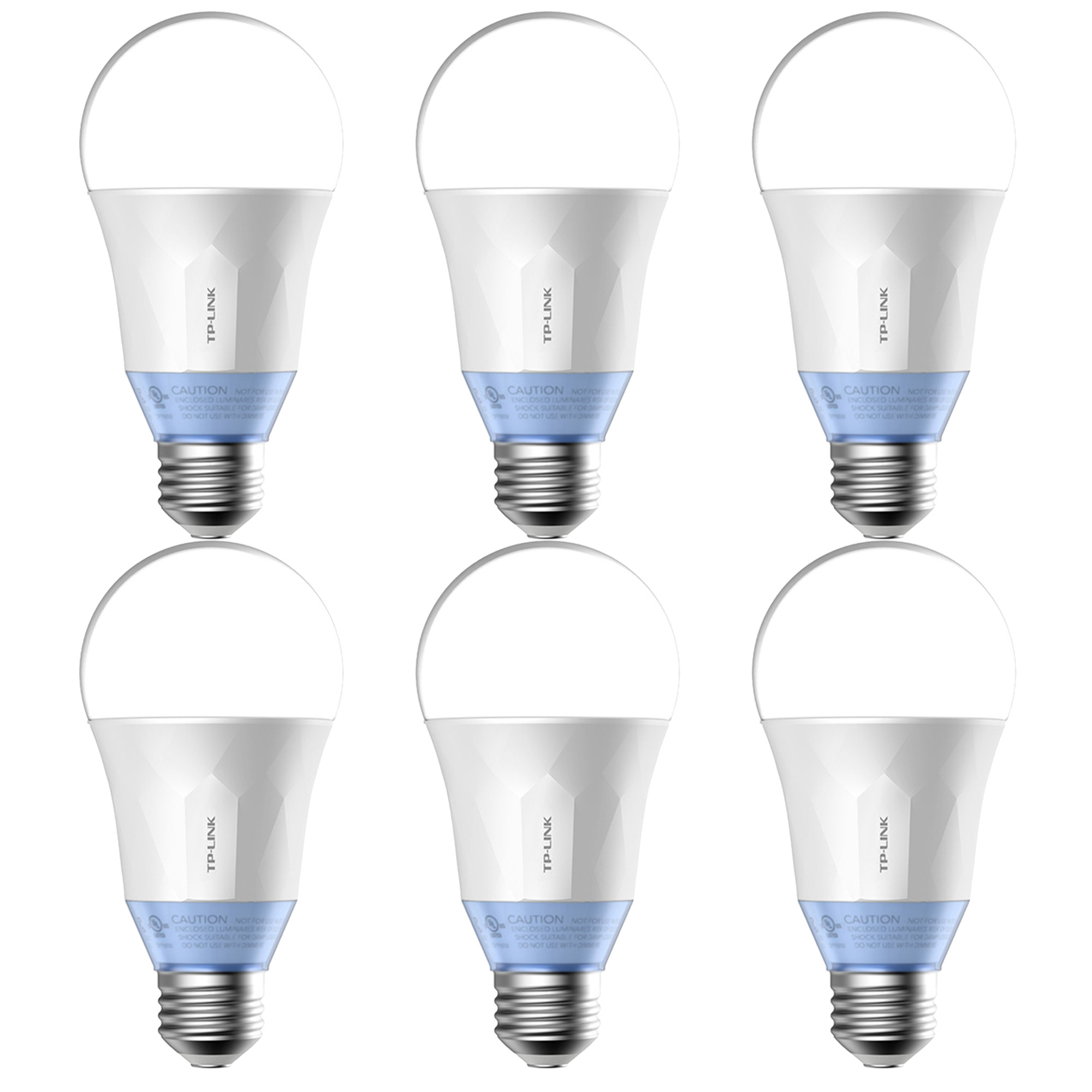 TP-Link Smart WiFi LED 11W Dimmable White Bulb with Voice App Control (6 Pack)