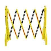 BISupply   Folding Barricade – 8 Ft Portable Road Safety Barrier with Reflectors