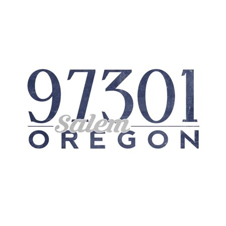 Salem, Oregon - 97301 Zip Code (Blue) Print Wall Art By Lantern Press - Party Store Salem Oregon