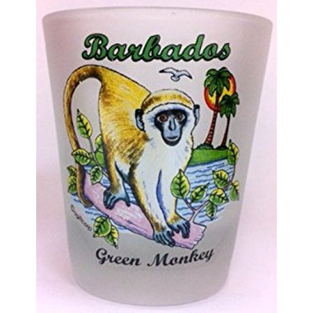 Barbados Green Monkey Shot Glass](Glass Monkey Green Bay)