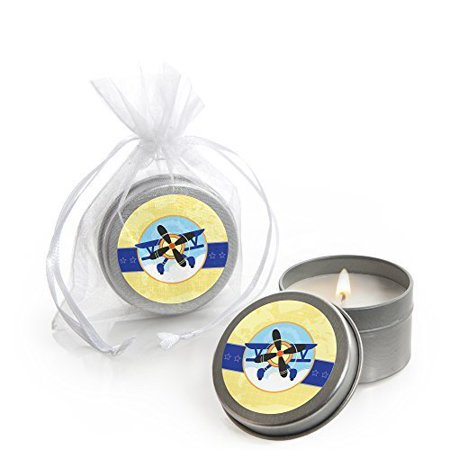 Airplane - Candle Tin Party Favors (Set of 12) - Favor Tins