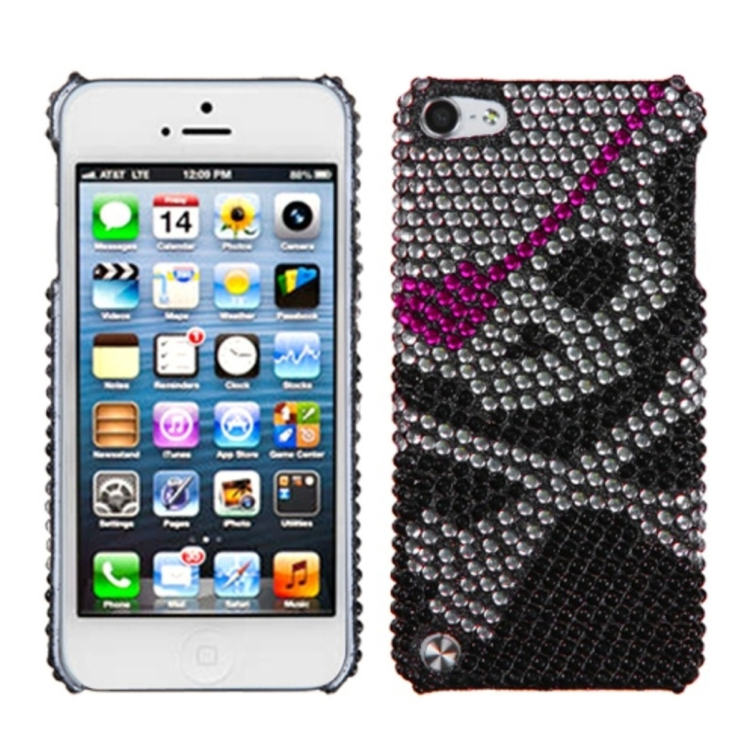 Insten Skull Diamante Back Protector Cover Case For iPod Touch 6 6th 5 5th Gen