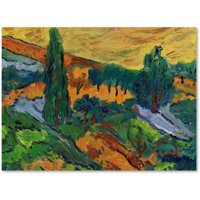 """Trademark Fine Art """"Sunset Ends a Summer Day"""" Canvas Art by Manor Shadian"""
