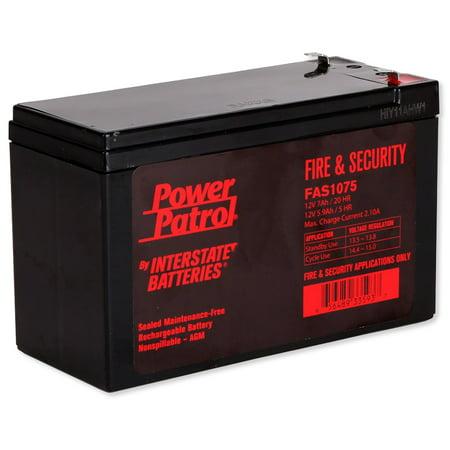 Interstate Batteries FAS-1075 Power Patrol Lead Acid Battery, 12V 7Ah
