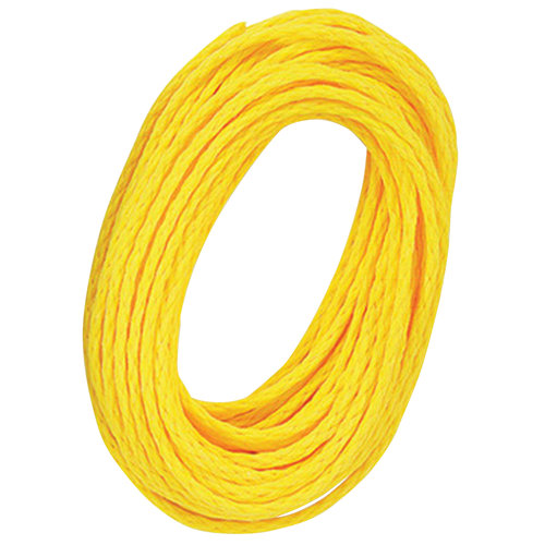 Attwood 40' Hollow Braided Polypropylene Utility Line, Yellow