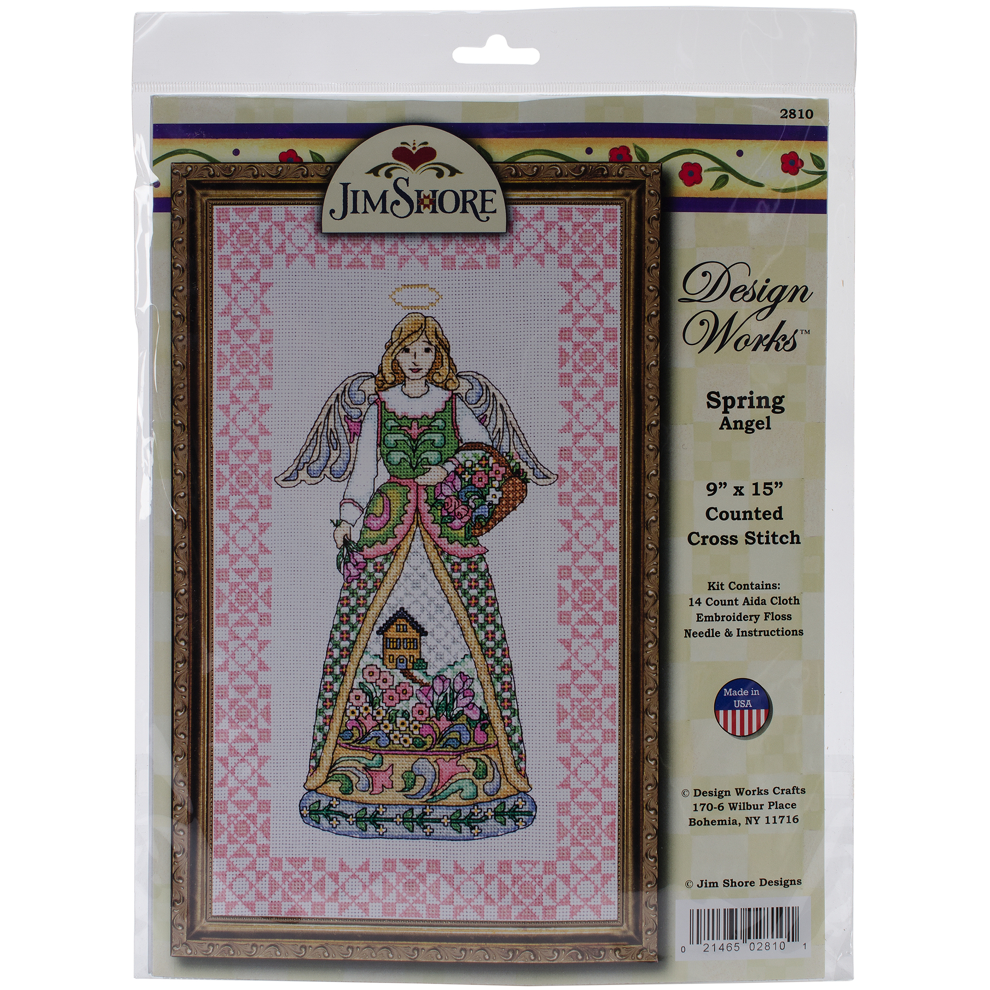 "Spring Angel-Jim Shore Counted Cross Stitch Kit, 9"" x 15"", 14-Count"