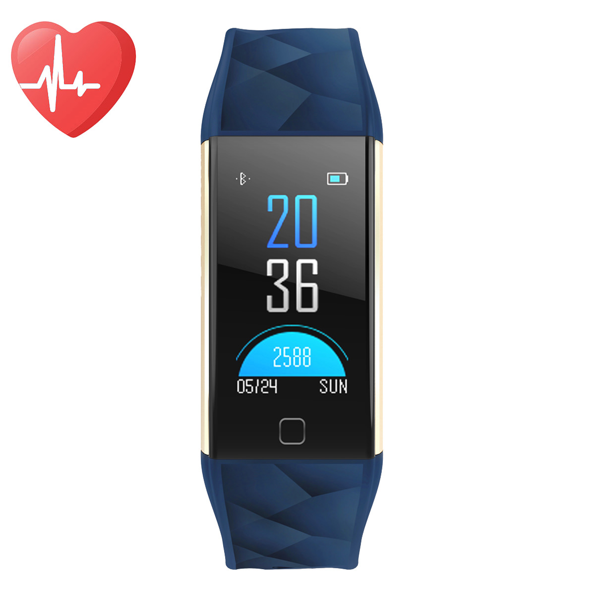 Diggro Smart Bracelet Wristband Watch Heart Rate Monitor Blood Pressure Fitness Tracker Blood Oxygen Monitor Fatigue Sleeping Monitor Call Message Reminder Remote Camera IP67 for Android IOS,Blue