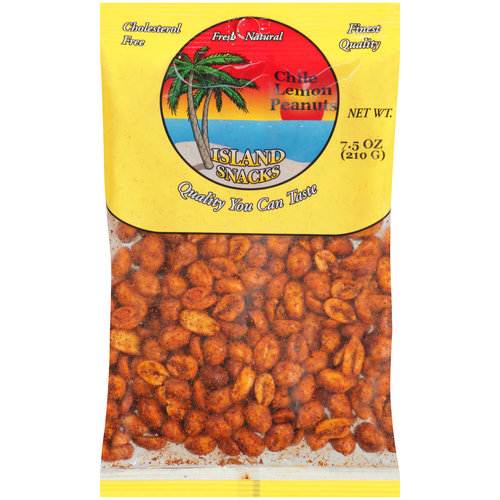 Island Snacks Chile Lemon Peanuts, 8 oz