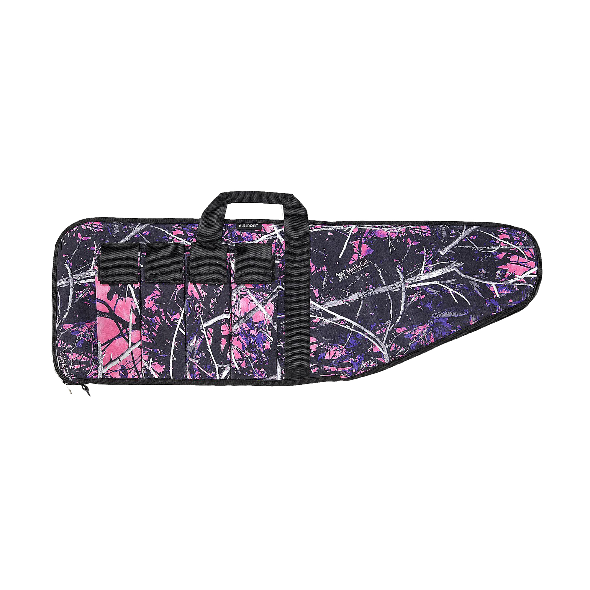 "BULLDOG EXTREME TACTICAL RIFLE CASE 1000D NYLON 43"" MUDDY GIRL CAMO W/BLACK TRIM"