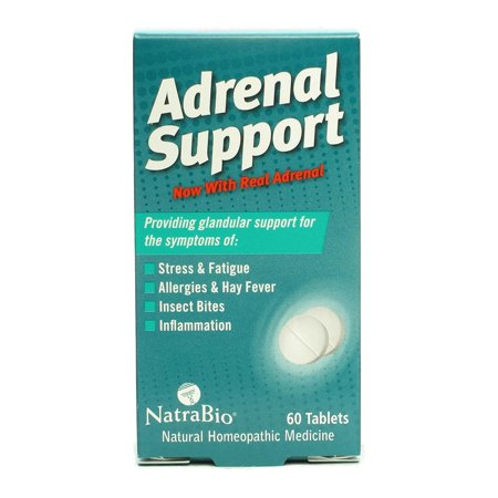 Natrabio Adrenal Support Natural Homeopathic Medicine Tablets 60
