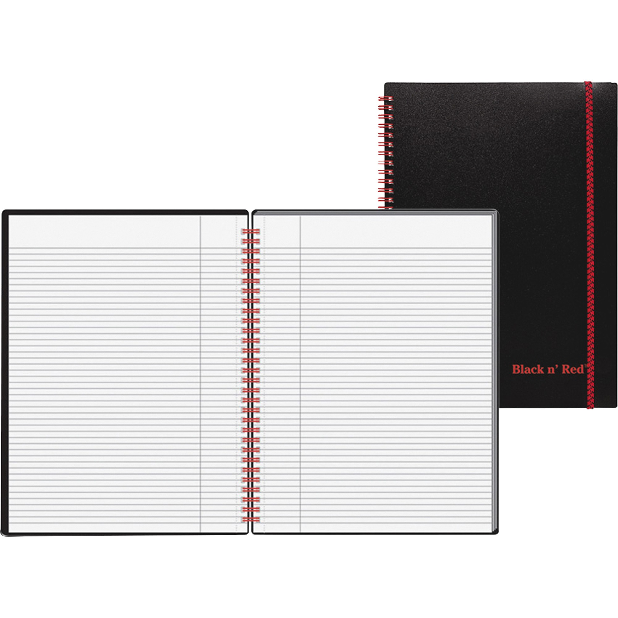 Black n' Red, JDKE67008, Wirebound Poly Notebook with front Pkt, 1 Each