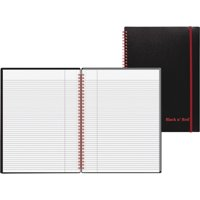 Black n' Red, JDKE67008, Wirebound Poly Notebook with Front Pocket, 1 Each