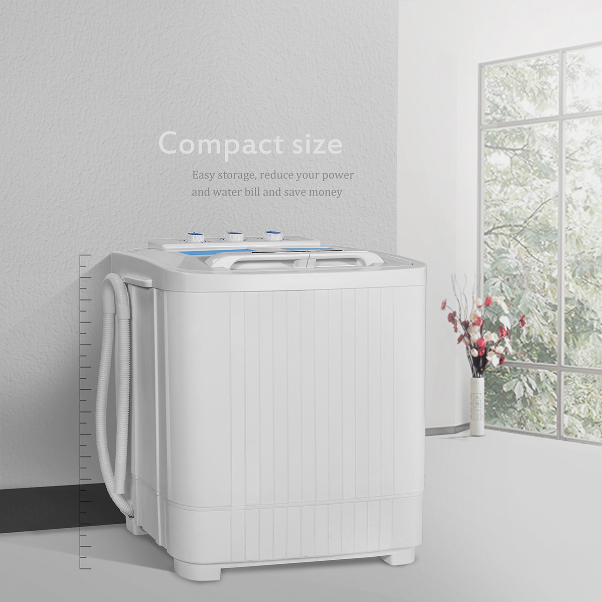 9LB MINI Washer & Spin Dryer Portable Compact Laundry Combo RV