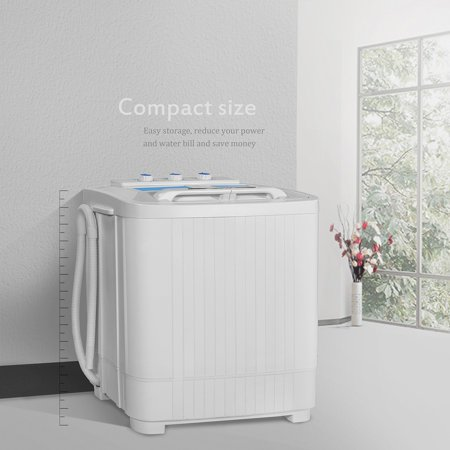 9LB MINI Washer & Spin Dryer Portable Compact Laundry Combo RV ...