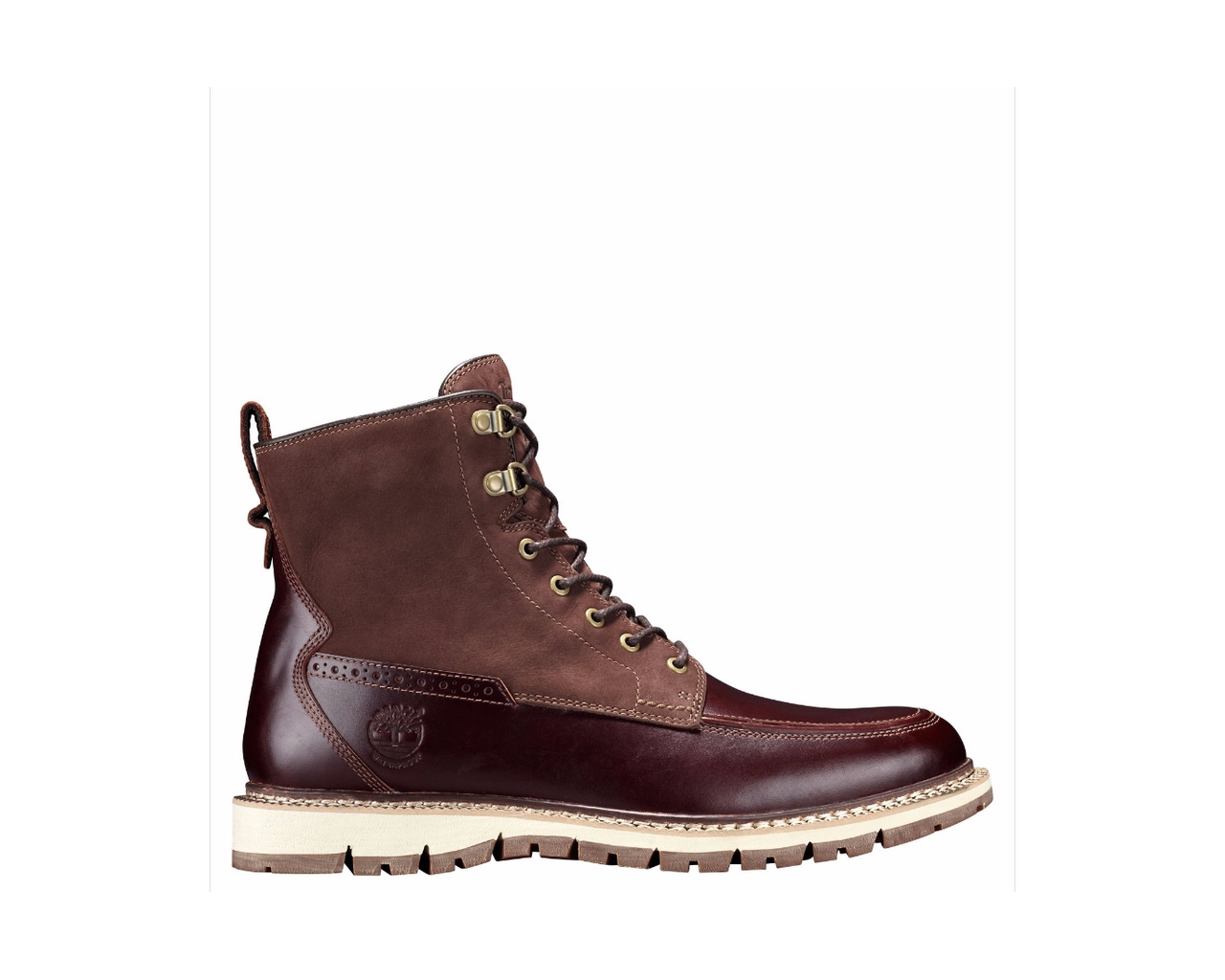 Men's Timberland Britton Hill Moc Toe Waterproof Boots Style#a1253 by