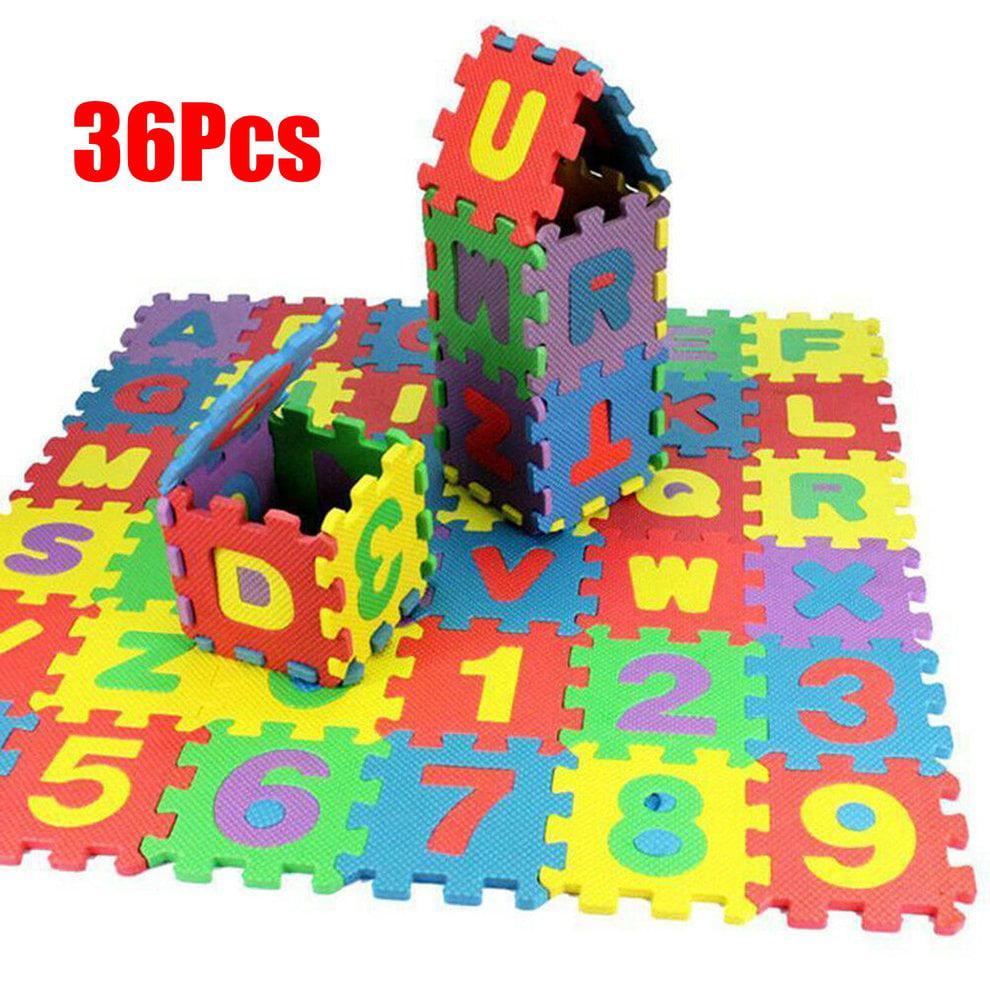 beb/és Alfombra para ni/ños peque/ños 36 piezas Soft Safe Durable EVA Multi-Color Foam Play Mat N/úmeros Letras Beb/é Ni/ños Ni/ños jugando Crawling Pad Juguetes Puzzle espuma para ni/ños