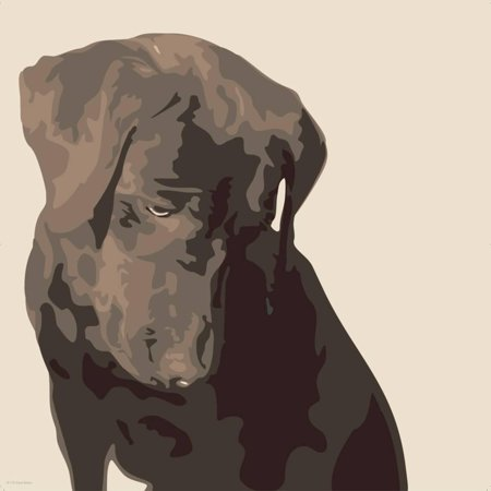 Chocolate Animal Print (Chocolate Labrador Dog Art Print Wall Art By Emily)