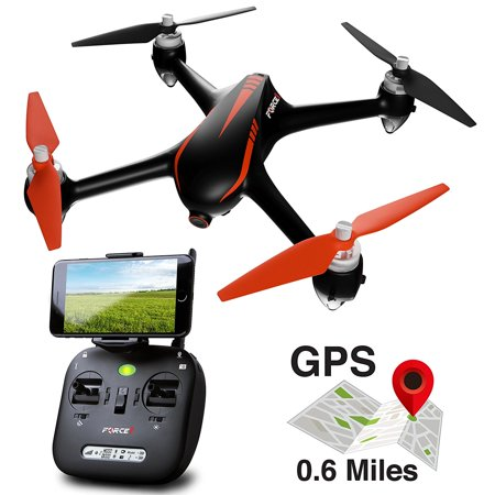 Bug Watch - Force1 Drone with Camera Live Video and GPS Return Home Brushless Motors HD Drone 1080p Camera FPV MJX B2W Bugs 2 Quadcopter