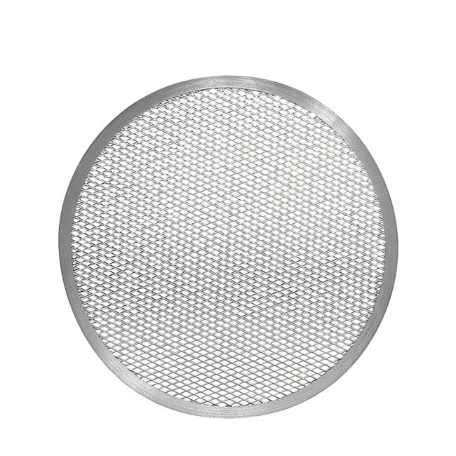 Thunder Group ALPZ17 Seamless-Rim Aluminum Pizza Screen 17 Inch