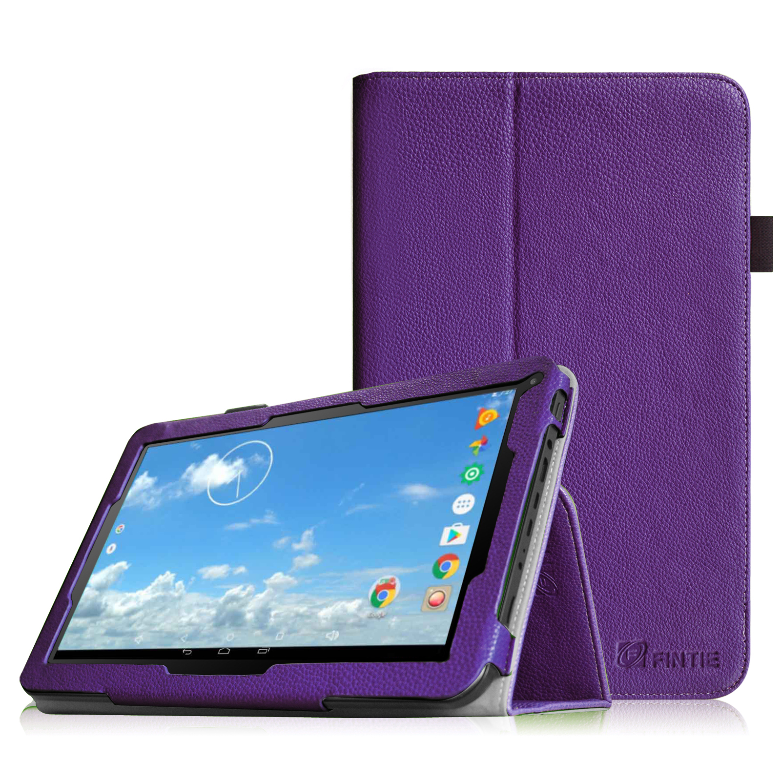 "Fintie iView SupraPad 10.1"" Tablet Case - Premium Vegan Leather Slim Fit Folio Cover with Stylus Holder, Violet"
