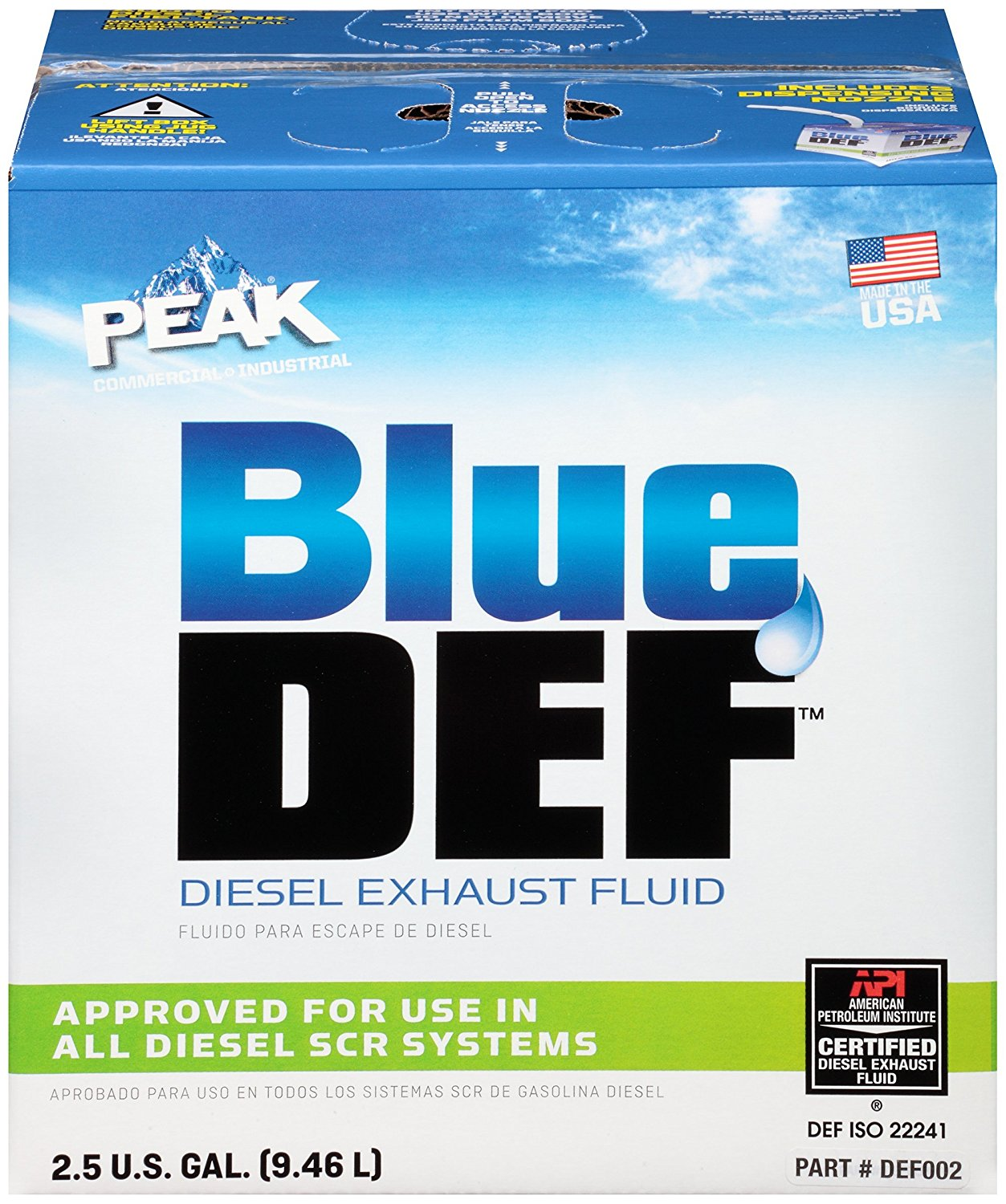 BLUEDEF Diesel Exhaust Fluid, 2 5 gal