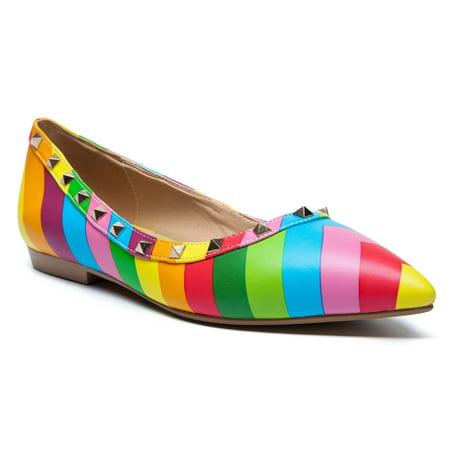 Ann Creek Fresno Rainbow Studded Flat(Women's) -Multi Clearance Classic Lowest Price For Sale LSRsv