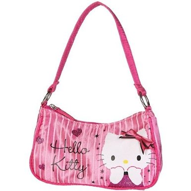 Hand Bag - Hello Kitty - Pink Hearts w/ 3D Bow New Purse ...