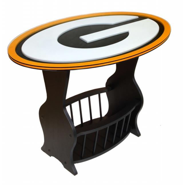 Fan Creations N0537-GBP Green Bay Packers Logo End Table