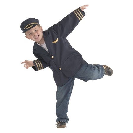 Brand New World Career Costume, Airline Pilot, Ages 3 to 6, Multicolor