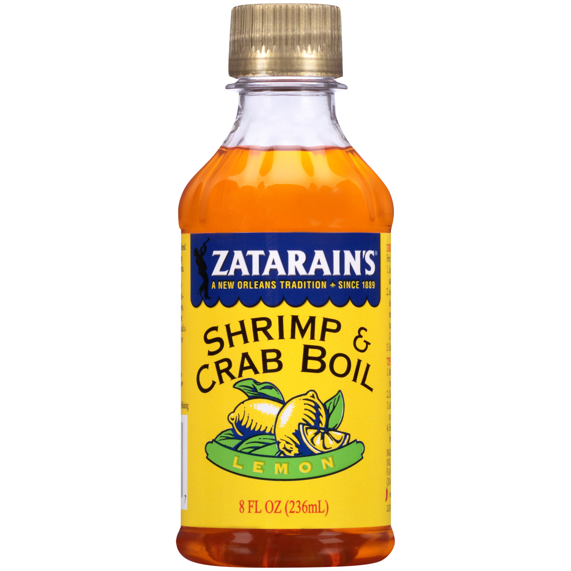 Zatarain's New Orleans Style Liquid Crab Boil With Lemon, 8 oz