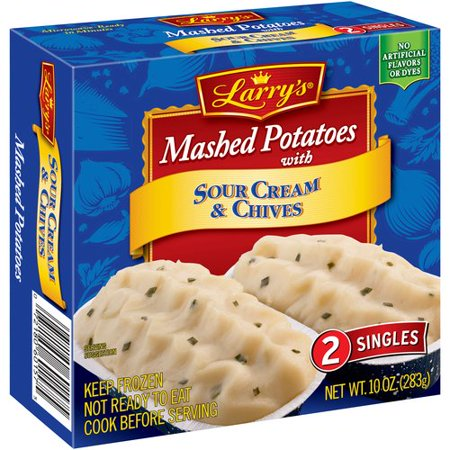 Larry's Sour Cream & Chives Mashed Potatoes 2 ct. Box - Walmart ...