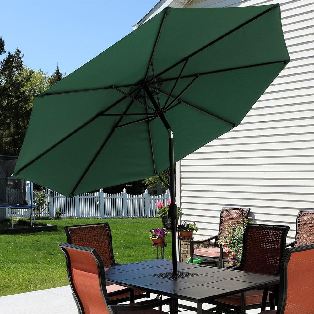 Sunnydaze Patio Umbrella with Tilt & Crank 9ft Aluminum -Multiple Colors by Patio Umbrellas