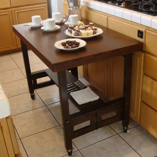 All Wood Folding Portable Serving Buffet