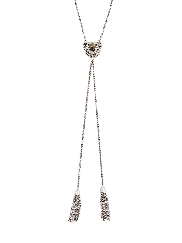 Modern Opulence Silvertone Y-Necklace