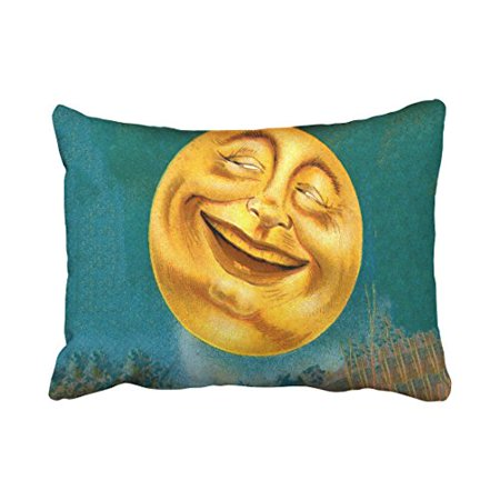 WinHome Funny Vintage Halloween Moon Laughing Out Loud Silhouette Personalized Polyester 20 x 30 Inch Rectangle Throw Pillow Covers With Hidden Zipper Home Sofa Cushion Decorative Pillowcases