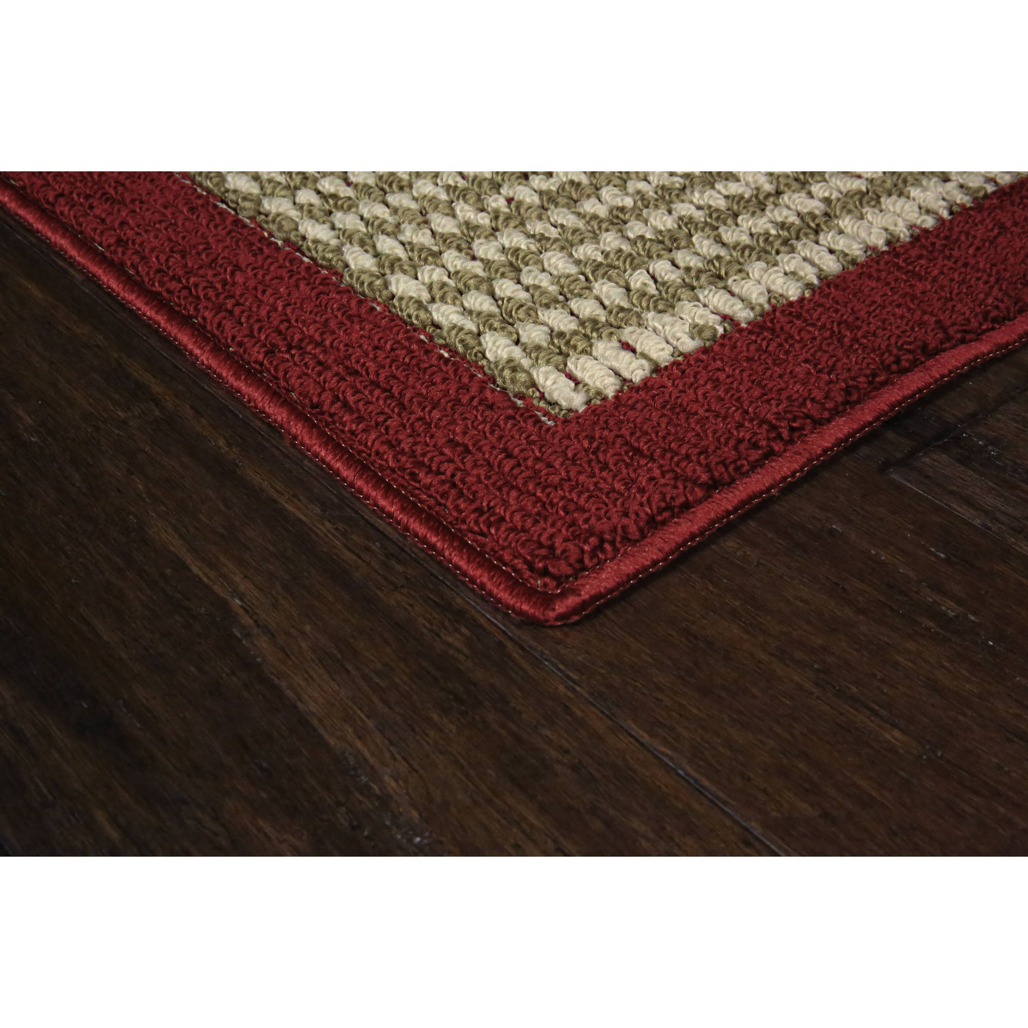 Red and brown rugs rugs ideas for Faux sisal rugs home depot